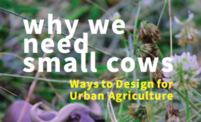 Cover: Why we need small cows. Ways to design for urban agriculture