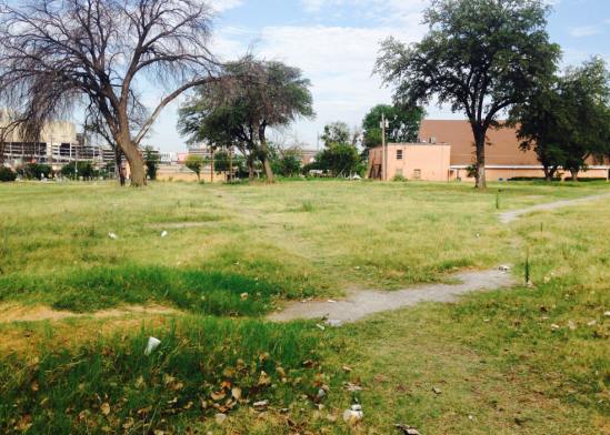 Potential urban farm site on vacant city owned lots