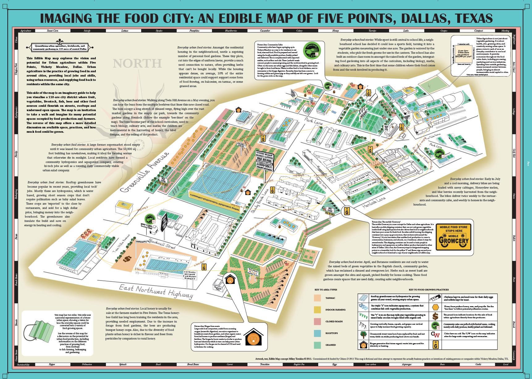 Edible Map of Dallas