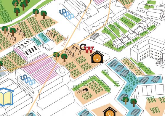 Close up Edible Map Peterborough