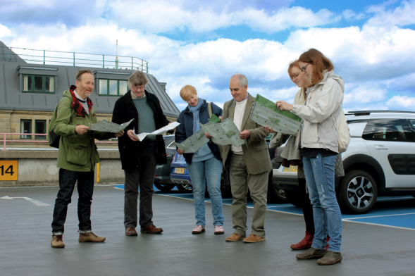 Edible Map walk, car park roof, Newcastle