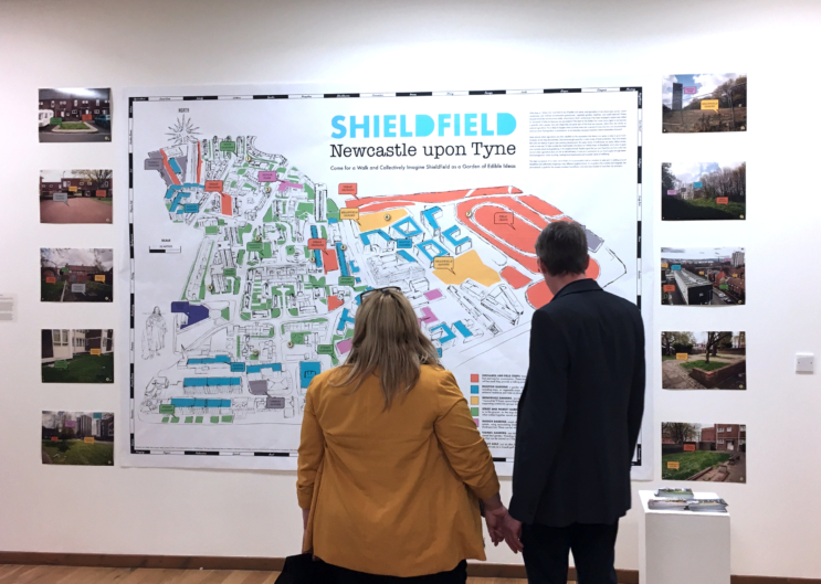 Shieldfield Edible Map, exhibition at SAW