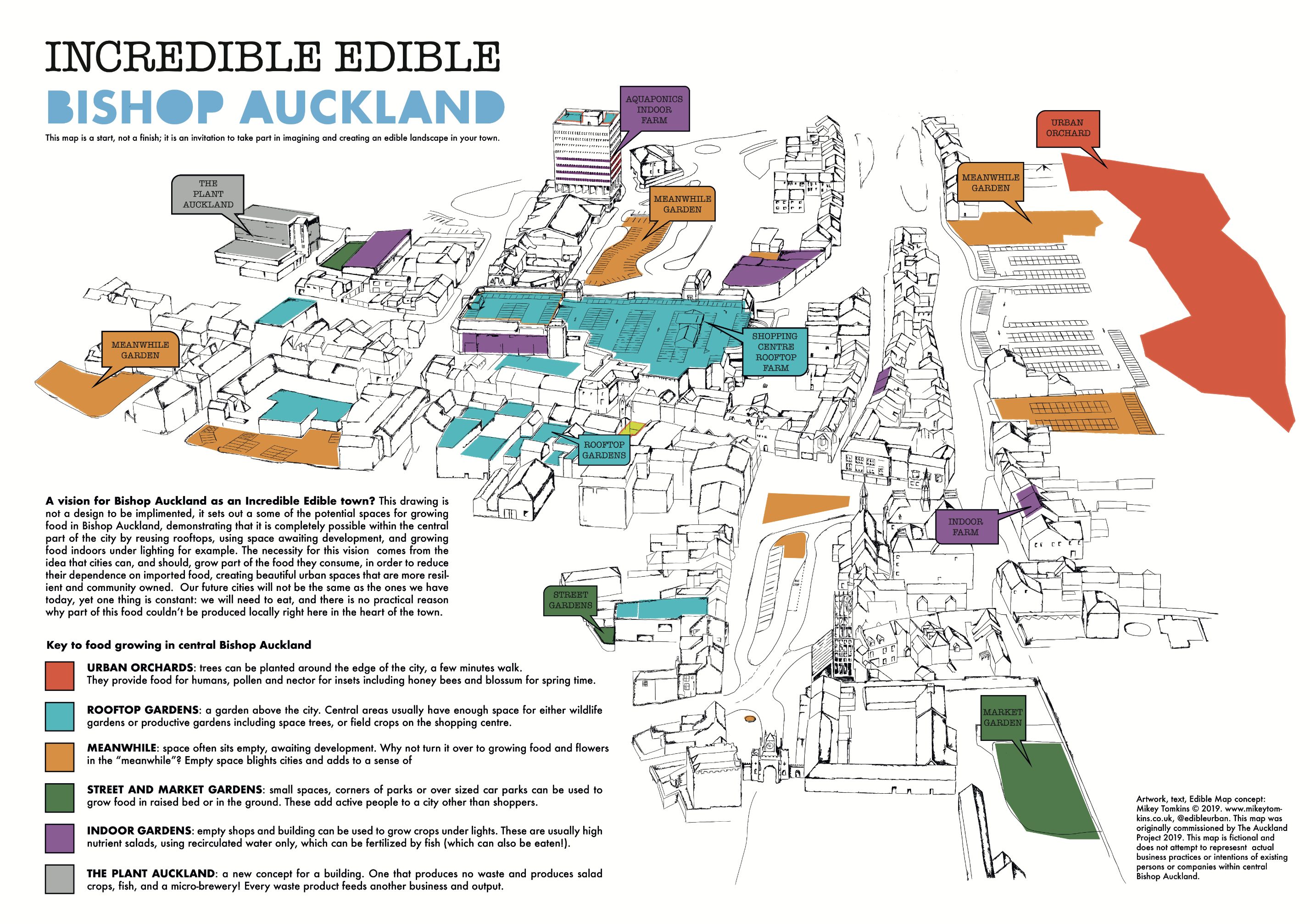 Edible Map Bishop Auckland, County Durham - Dr. Mikey Tomkins on