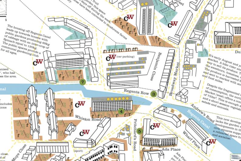 Hackney Edible Map close up