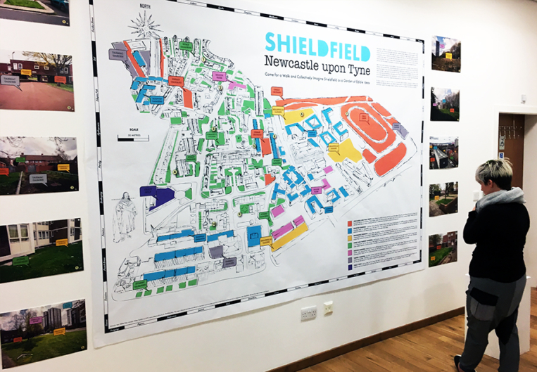 Shieldfield Edible Map, SAW exhibition